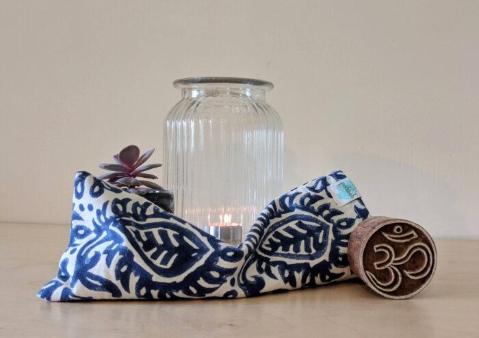 Yogipod hand block printed eye pillow for yoga