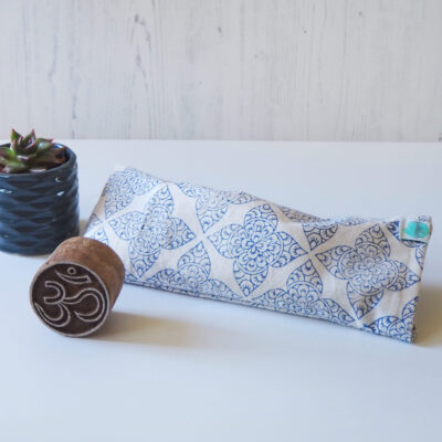 relaxing eye pillow for yoga block printed Yogipod