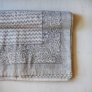 block printed kantha throw