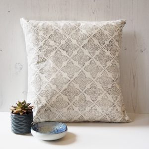 block printed scatter cushion