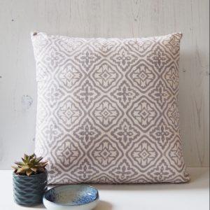 block print cushion