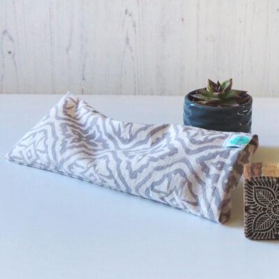 Yogipod eye pillow for yoga block printed grey
