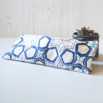 Yogipod Eye Pillow for yoga Blue print design