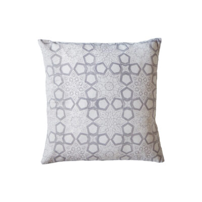 hand block printed yogipod sofa scatter cushion