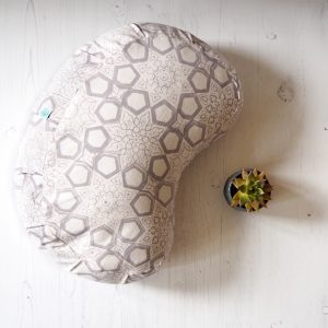 printed crescent meditation cushion yogipod