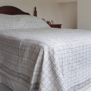 block printed bed throw