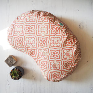 printed meditation cushion