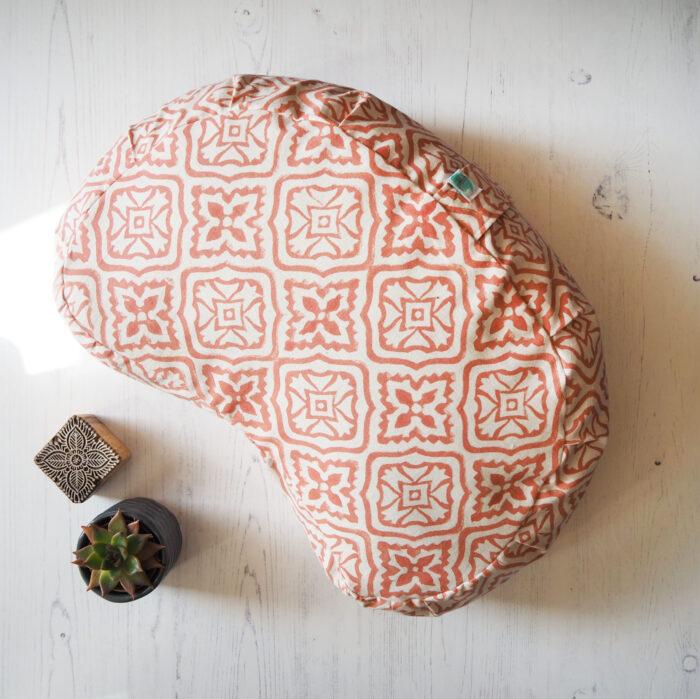 printed meditation cushion
