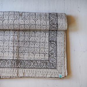 Block printed bed throw Yogipod