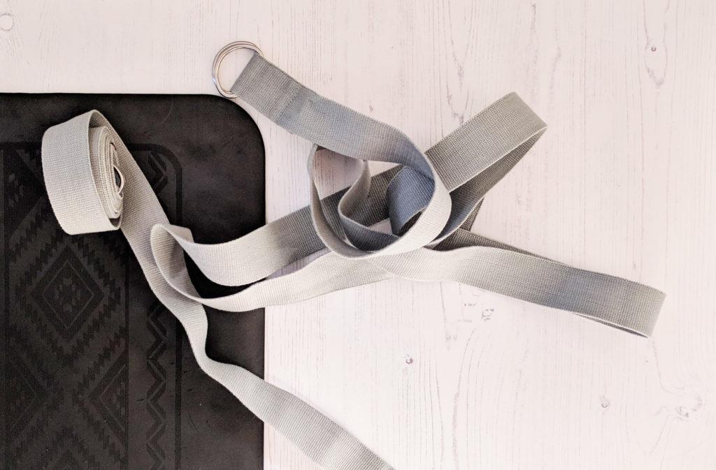 private yoga classes - yoga strap and mat