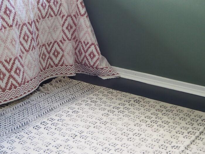 Hand block printed yogipod rug