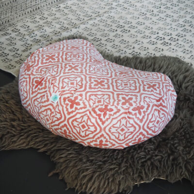 coral pink meditation cushion yogipod