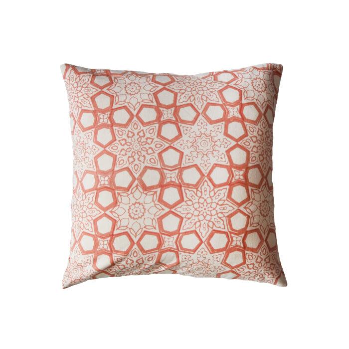 hand printed yogipod scatter cushion