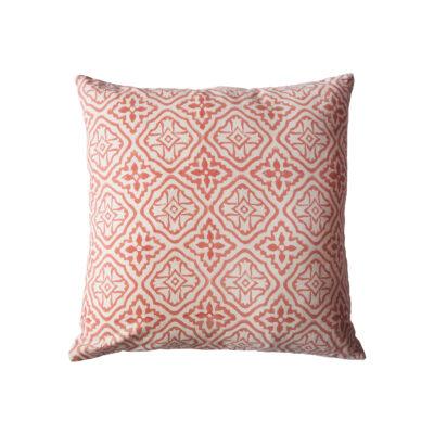hand block printed yogipod scatter cushion