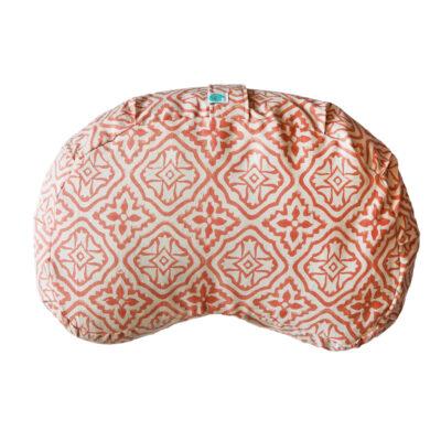 hand block printed meditation cushion yogipod