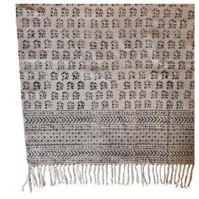 Yogipod hand block printed rug