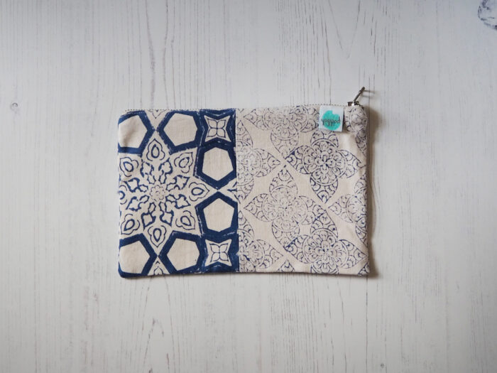 zero waste block printed bag