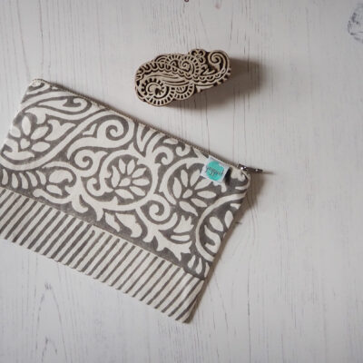 block printed pouch zero waste