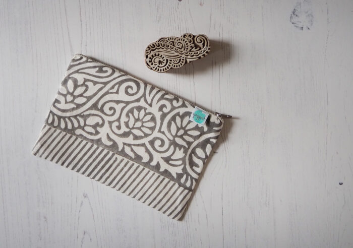 block printed pouch zero waste