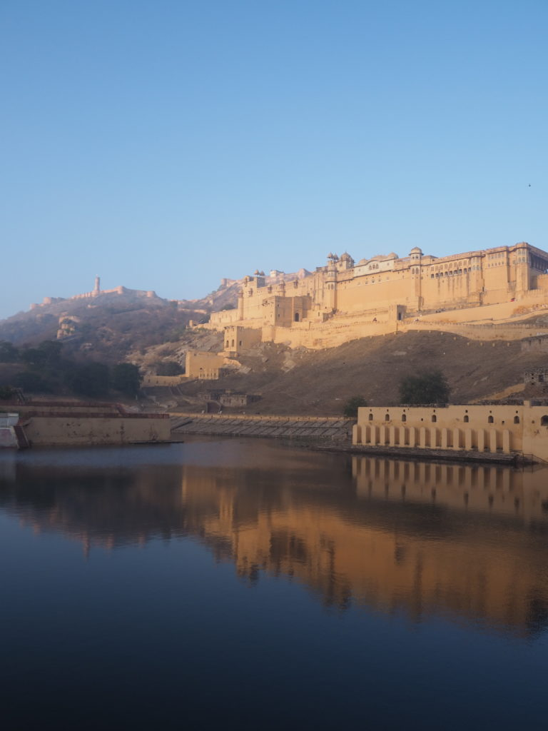 Early morning sunshine on the Amer Fort
