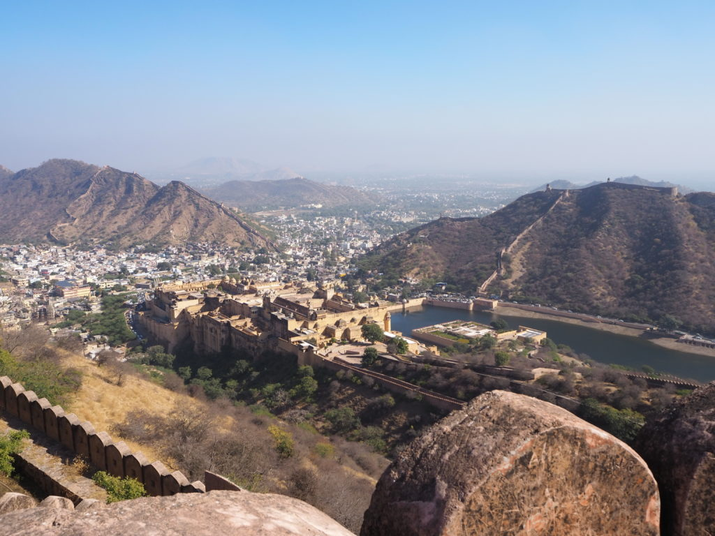 View of the Amber Fort from above