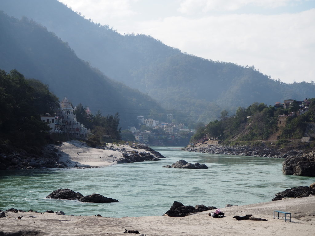 The banks of the Ganges in Rishikesh