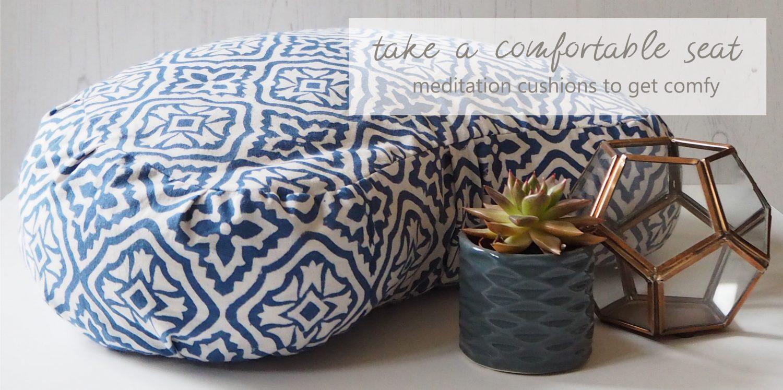 block printed meditation cushion