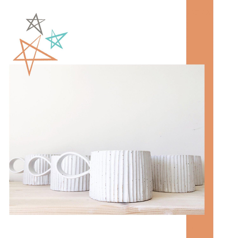 Homefolk Ceramics Carved Mug