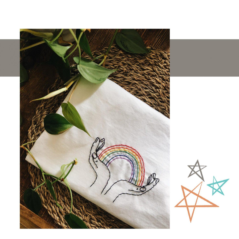 Sew into You Rainbow Tee