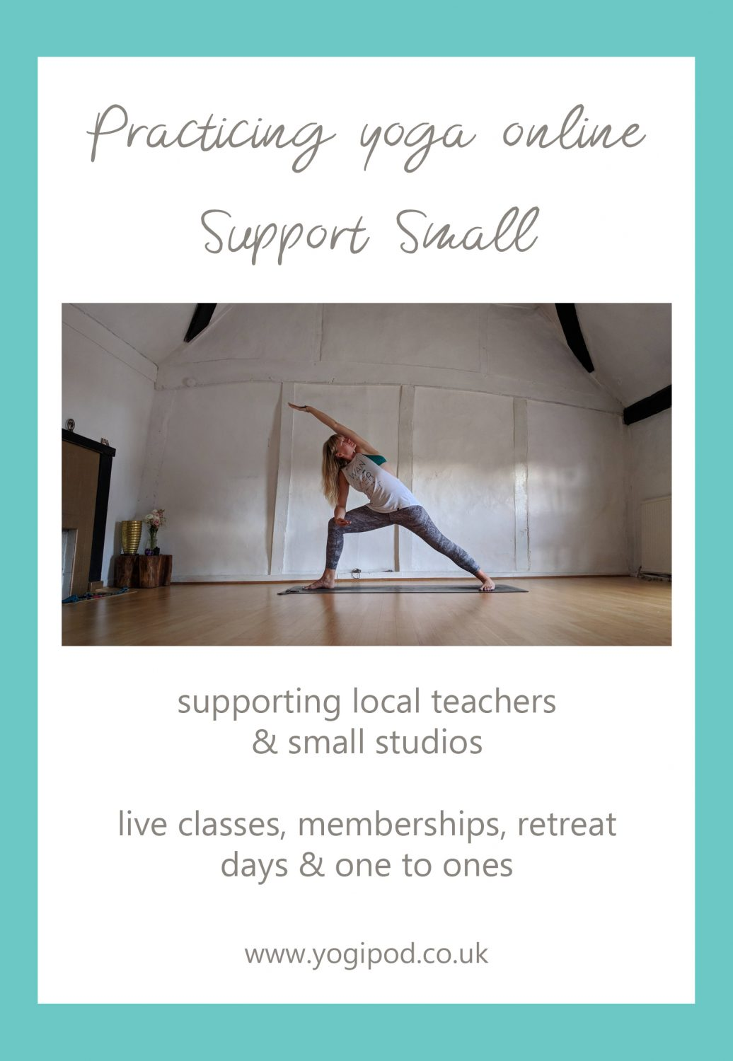 practicing yoga online, support small yoga studios and teachers, online yoga teachers