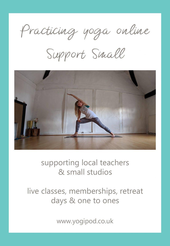 practicing yoga online, support small yoga studios and teachers, online yoga teachers