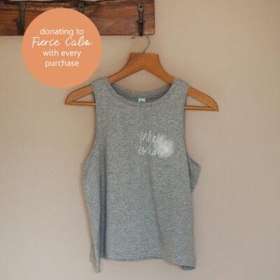 hand screen printed yogipod yoga vest