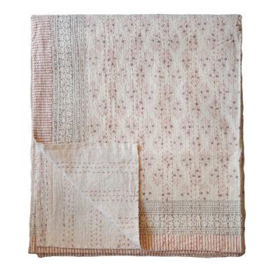 hand printed yogipod kantha bed throw